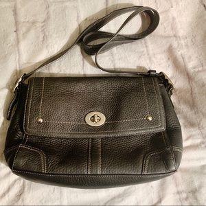 Vintage Coach Hamilton Pebble Leather Black purse